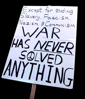 War has never solved anything